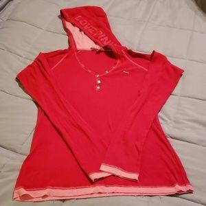 Pink thermal hoodie